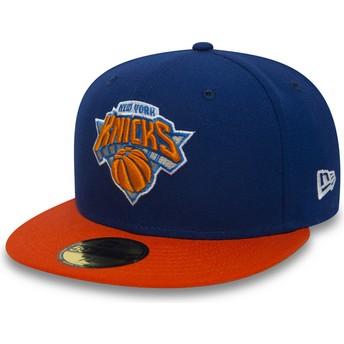 New Era Flat Brim 59FIFTY Essential New York Knicks NBA Blue Fitted Cap