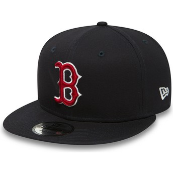 New Era Flat Brim 9FIFTY Essential Boston Red Sox MLB Navy Blue Snapback Cap