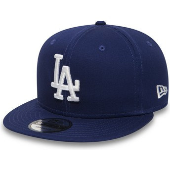New Era Flat Brim 9FIFTY Essential Los Angeles Dodgers MLB Blue Snapback Cap