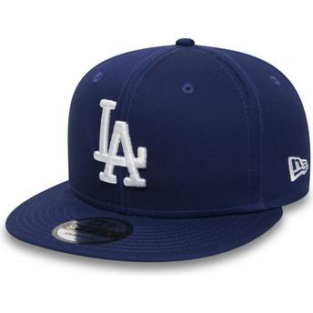 New Era Flat Brim 9FIFTY Essential Los Angeles Dodgers MLB Blue Snapback Cap