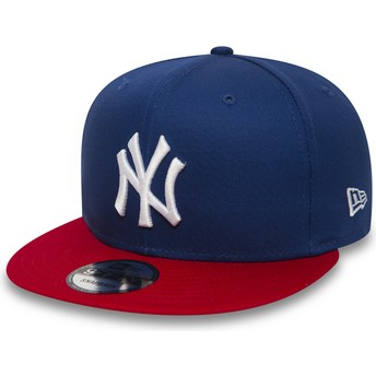 New Era Flat Brim 9FIFTY Cotton Block New York Yankees MLB Blue Snapback Cap