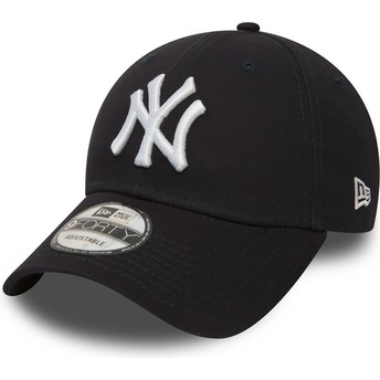 New Era Curved Brim 9FORTY Essential New York Yankees MLB Navy Blue Adjustable Cap