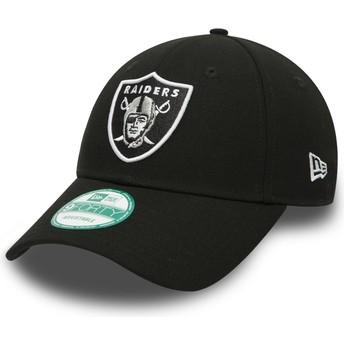 New Era Curved Brim 9FORTY The League Oakland Raiders NFL Black Adjustable Cap