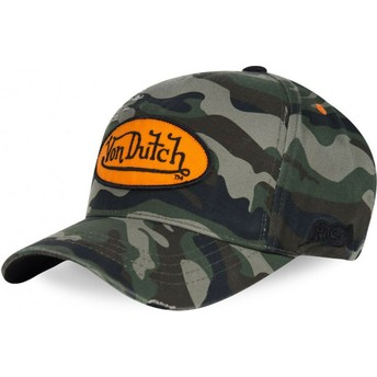 Von Dutch Curved Brim CAMOU02 Camouflage Adjustable Cap