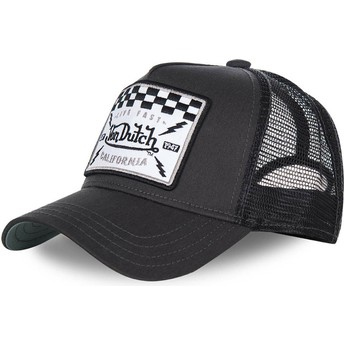 Von Dutch SQUARE8B Black Trucker Hat