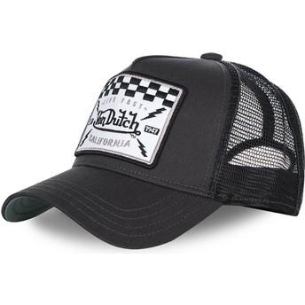 Von Dutch SQUARE8B Black Trucker Hat