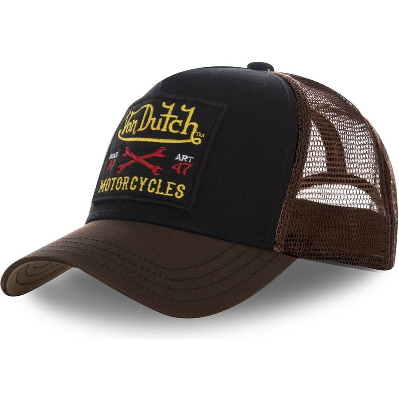 **BRAND NEW** SQUARE BROWN VON DUTCH TRUCKER CAP