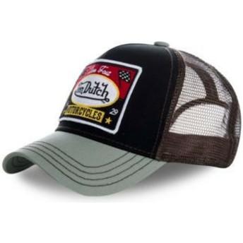 Von Dutch SQUARE18 Black and Grey Trucker Hat