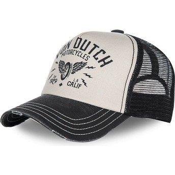 Von Dutch Curved Brim CREW2 White and Black Adjustable Cap
