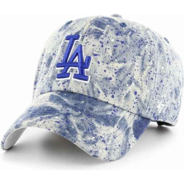47-brand-curved-brim-blue-logo-los-angeles-dodgers-mlb-clean-up-splat-blue-cap