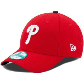 New Era Curved Brim 9FORTY The League Philadelphia Phillies MLB Red Adjustable Cap