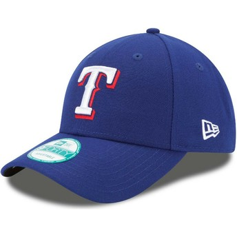 New Era Curved Brim 9FORTY The League Texas Rangers MLB Blue Adjustable Cap
