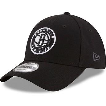 New Era Curved Brim 9FORTY The League Brooklyn Nets NBA Black Adjustable Cap