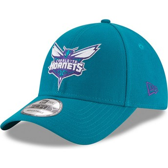 New Era Curved Brim 9FORTY The League Charlotte Hornets NBA Blue Adjustable Cap