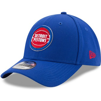 New Era Curved Brim 9FORTY The League Detroit Pistons NBA Blue Adjustable Cap