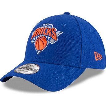 New Era Curved Brim 9FORTY The League New York Knicks NBA Blue Adjustable Cap