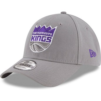 New Era Curved Brim 9FORTY The League Sacramento Kings NBA Grey Adjustable Cap