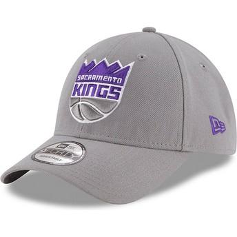 New Era Curved Brim 9FORTY The League Sacramento Kings NBA Grey Adjustable Cap