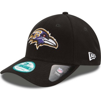New Era Curved Brim 9FORTY The League Baltimore Ravens NFL Black Adjustable Cap