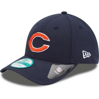 New Era Curved Brim 9FORTY The League Chicago Bears NFL Navy Blue Adjustable Cap