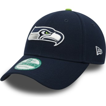 New Era Curved Brim 9FORTY The League Seattle Seahawks NFL Navy Blue Adjustable Cap