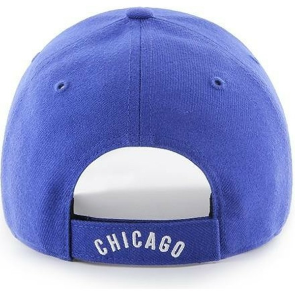 47-brand-curved-brim-classic-logo-chicago-cubs-mlb-mvp-cooperstown-blue-adjustable-cap