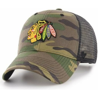 47 Brand Chicago Blackhawks NHL MVP Branson Camouflage Trucker Hat
