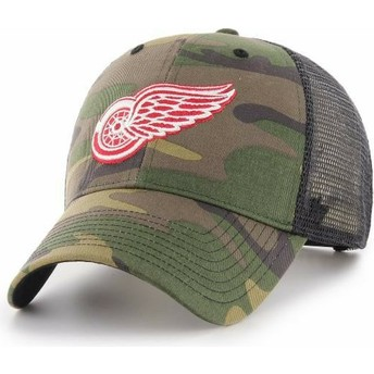 47 Brand Detroit Red Wings NHL MVP Branson Camouflage Trucker Hat