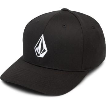 Volcom Curved Brim Black Full Stone Xfit Black Fitted Cap