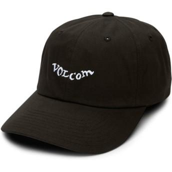 Volcom Curved Brim Black Stencil Black Adjustable Cap