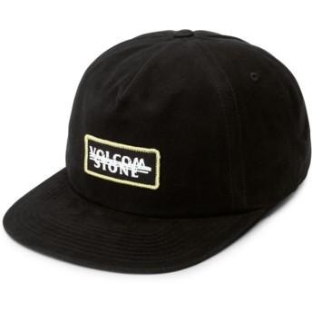Volcom Flat Brim Black Scribble Stone Black Snapback Cap