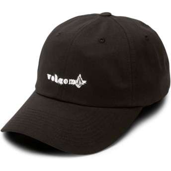 Volcom Curved Brim Black Stonographer Black Adjustable Cap