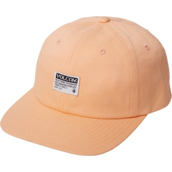 Volcom Curved Brim Summer Orange Case Orange Adjustable Cap