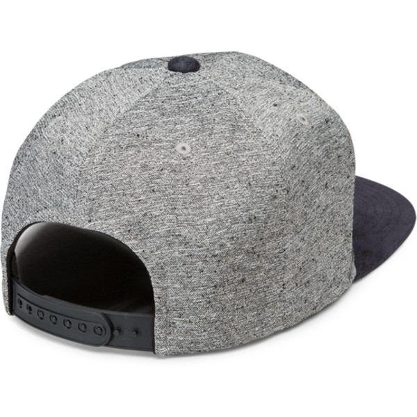 volcom-flat-brim-indigo-quarter-fabric-grey-snapback-cap-with-navy-blue-visor