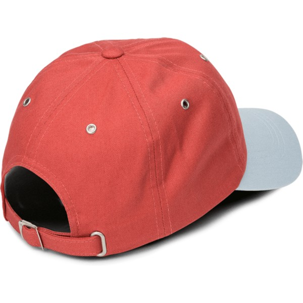 volcom-curved-brim-copper-splat-red-adjustable-cap-with-grey-visor