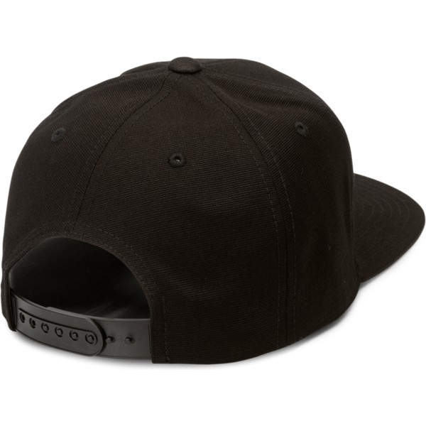 volcom-flat-brim-youth-engine-red-cresticle-black-snapback-cap