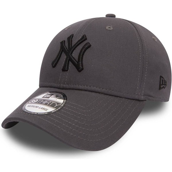 new-era-curved-brim-black-logo-39thirty-league-essential-new-york-yankees-mlb-stone-fitted-cap