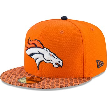 New Era Flat Brim 59FIFTY Sideline Denver Broncos NFL Orange Fitted Cap