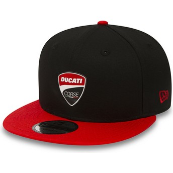 New Era Flat Brim 9FIFTY Snaparch Ducati Motor MotoGP Black Snapback Cap