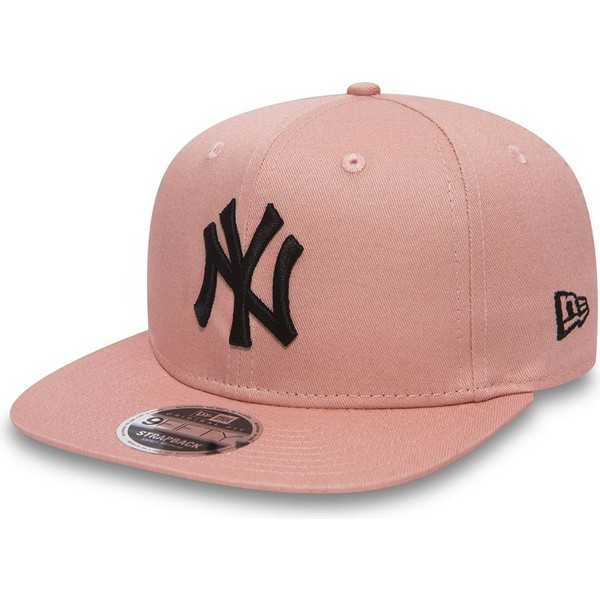 new-era-flat-brim-black-logo-9fifty-true-originators-new-york-yankees-mlb-pink-adjustable-cap