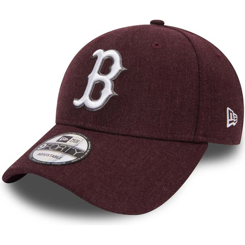 new-era-curved-brim-9forty-seasonal-heather-boston-red-sox-mlb-purple-adjustable-cap