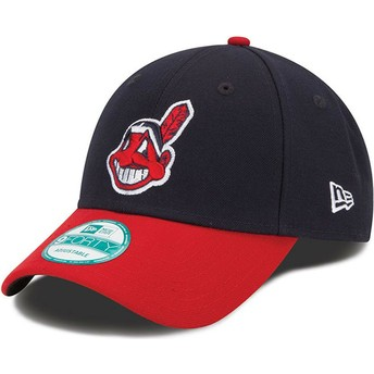 New Era Curved Brim 9FORTY The League Cleveland indians MLB Black and Red Adjustable Cap