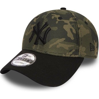 New Era Curved Brim 9FORTY Mesh Overlay New York Yankees MLB Camouflage Adjustable Cap