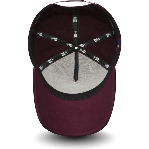 new-era-curved-brim-9forty-melton-a-frame-new-york-yankees-mlb-maroon-adjustable-cap