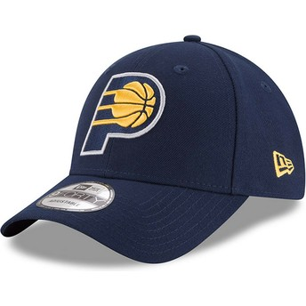 New Era Curved Brim 9FORTY The League Indiana Pacers NBA Navy Blue Adjustable Cap
