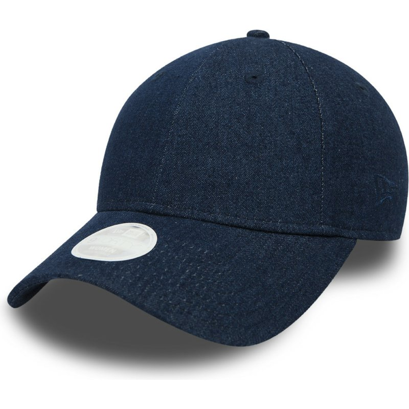 new-era-curved-brim-9forty-denim-blue-adjustable-cap