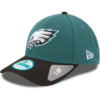 New Era Curved Brim 9FORTY The League Philadelphia Eagles NFL Green and Black Adjustable Cap