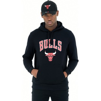 New Era Pullover Hoody Chicago Bulls NBA Black Sweatshirt