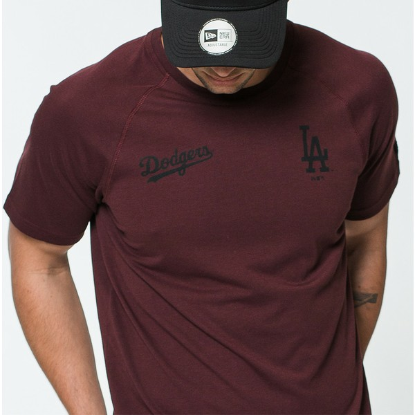 new-era-tech-series-los-angeles-dodgers-mlb-maroon-t-shirt