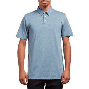 Volcom Wrecked Indigo Wowzer Blue Polo